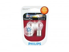 Комплект лампочек Philips P21W 12498VPB2 Vision Plus