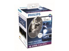 Набор светодиодных лампа Philips H4 Bright White X-treme Ultinon LED 12953BWX2