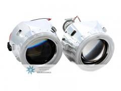 Биксеноновые линзы Galaxy G5 с ангельскими глазками (маски X2)
