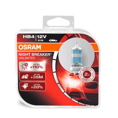 Набор галогеновых ламп Osram HB4 9006NBU Night Breaker Unlimited 3400K