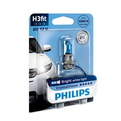 Галогеновая лампа Philips H3 12336CVB1 Crystal Vision