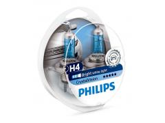 Набор галогеновых ламп Philips H4 12342CVSD Crystal Vision