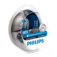 Набор Галогеновых Ламп PHILIPS H11 12362DVS2 DIAMOND VISION