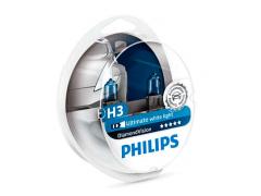 Набор галогеновых ламп Philips H3 12336DVS2 DiamondVision