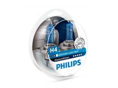 Набор галогеновых ламп Philips H4 12342DVS2 Diamond Vision