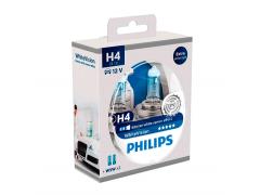 Набор галогеновых ламп Philips H4 12342WHVB1 WhiteVision