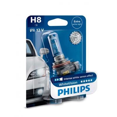 Галогеновая лампа Philips H8 White Vision 12360WHVB1
