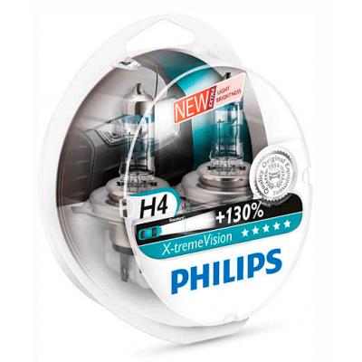 Набор галогеновых ламп Philips H4 12342XVS2 X-TremeVision +130%