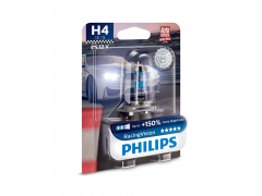 Галогеновая лампа Philips H4 12342RVB1 Racing Vision +150%