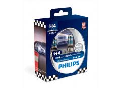 Набор галогеновых ламп Philips H4 12342RVS2 Racing Vision +150%