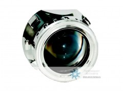 Биксеноновые линзы Morimoto Mini H1 с ангельскими глазками (маска X2)