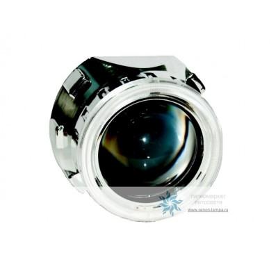 Биксеноновая линза Morimoto Mini H1 с ангельскими глазками (маска X2)