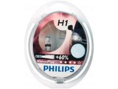 Набор галогеновых ламп Philips H1 12258VPS2 VisionPlus +60%
