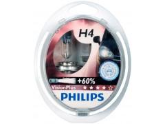 Набор галогеновых ламп Philips H4 12342VPS2 VisionPlus +60%