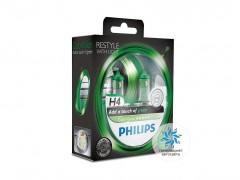 Набор галогеновых ламп Philips H4 ColorVision
