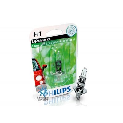 Галогеновая лампа Philips H1 12258ECOB1 LongLife EcoVision