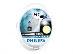 Набор галогеновых ламп Philips H1 12258XVS2 X-TremeVision +100%