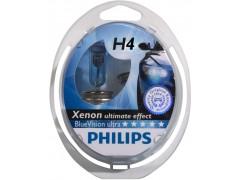 Набор галогеновых ламп Philips H4 12342BVUB1 BlueVision Ultra