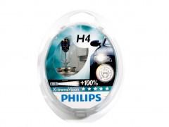 Набор галогеновых ламп Philips H4 12342XVS2 X-TremeVision +100%