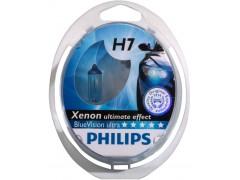 Набор галогеновых ламп Philips H7 12972BVUB1 Blue Vision Ultra