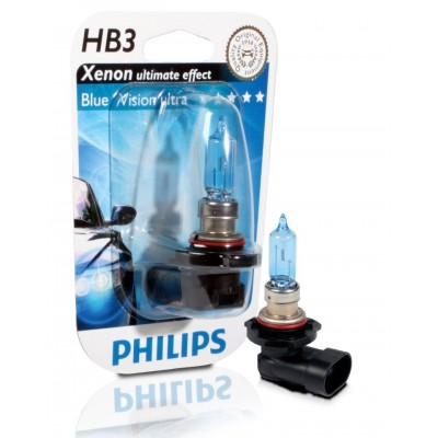 Набор галогеновых ламп Philips HB3 9005BVUB1 BlueVision Ultra