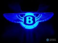 Проектор на бампер с логотипом Bentley