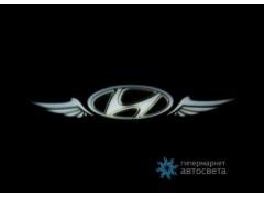 Проектор на бампер с логотипом Hyundai
