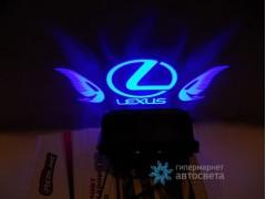 Проектор на бампер с логотипом Lexus