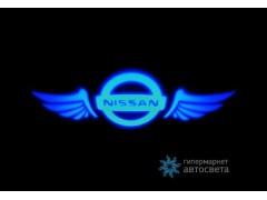 Проектор на бампер с логотипом Nissan