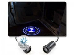Подсветка дверей автомобиля: проекция логотипа BMW