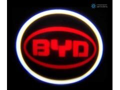 Подсветка дверей автомобиля: проекция логотипа BYD