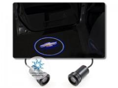 Подсветка дверей автомобиля: проекция логотипа Chevrolet