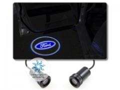 Подсветка дверей автомобиля: проекция логотипа Ford