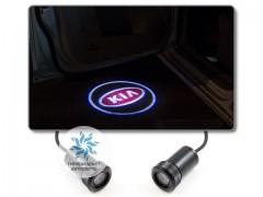 Подсветка дверей автомобиля: проекция логотипа KIA