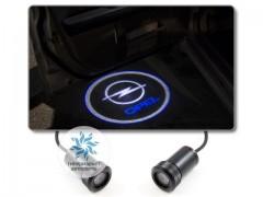 Подсветка дверей автомобиля: проекция логотипа Opel