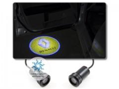 Подсветка дверей автомобиля: проекция логотипа Renault