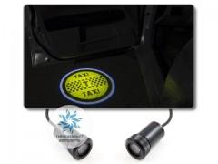 Подсветка дверей автомобиля: проекция эмблемы такси