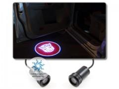 Подсветка дверей автомобиля: проекция эмблемы Трансформеры Автоботы
