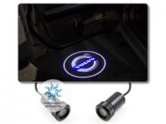 Подсветка дверей автомобиля: проекция логотипа Volvo