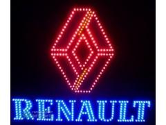 Светящийся логотип для грузовика Renault