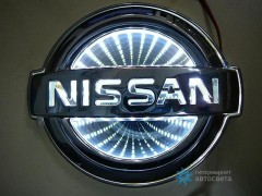 Шильдик с LED-подсветкой для Ниссан (Nissan)