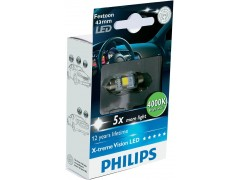 Philips LED C5W X-TremeVision 43 мм (+400%)
