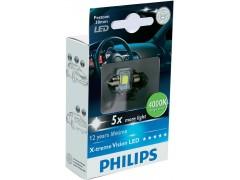 Philips LED C5W X-TremeVision 30 мм (+400%)