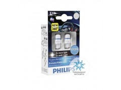 Philips LED T10 (W5W ) X-TremeVision 8000К