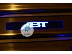 Накладки на пороги с подсветкой ABT