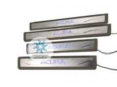Накладки на пороги с подсветкой Acura
