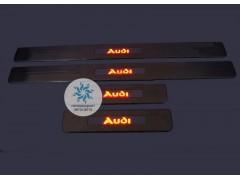 Накладки на пороги с подсветкой Audi