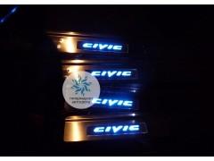 Накладки на пороги с подсветкой Honda Civic