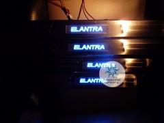 Накладки на пороги с подсветкой Hyundai Elantra