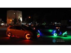 Лента со светодиодами для подсветки дисков (с пультом управления цветом)